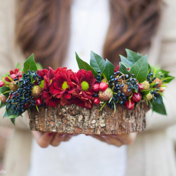 DIY-Corona de flores con Freshandwood